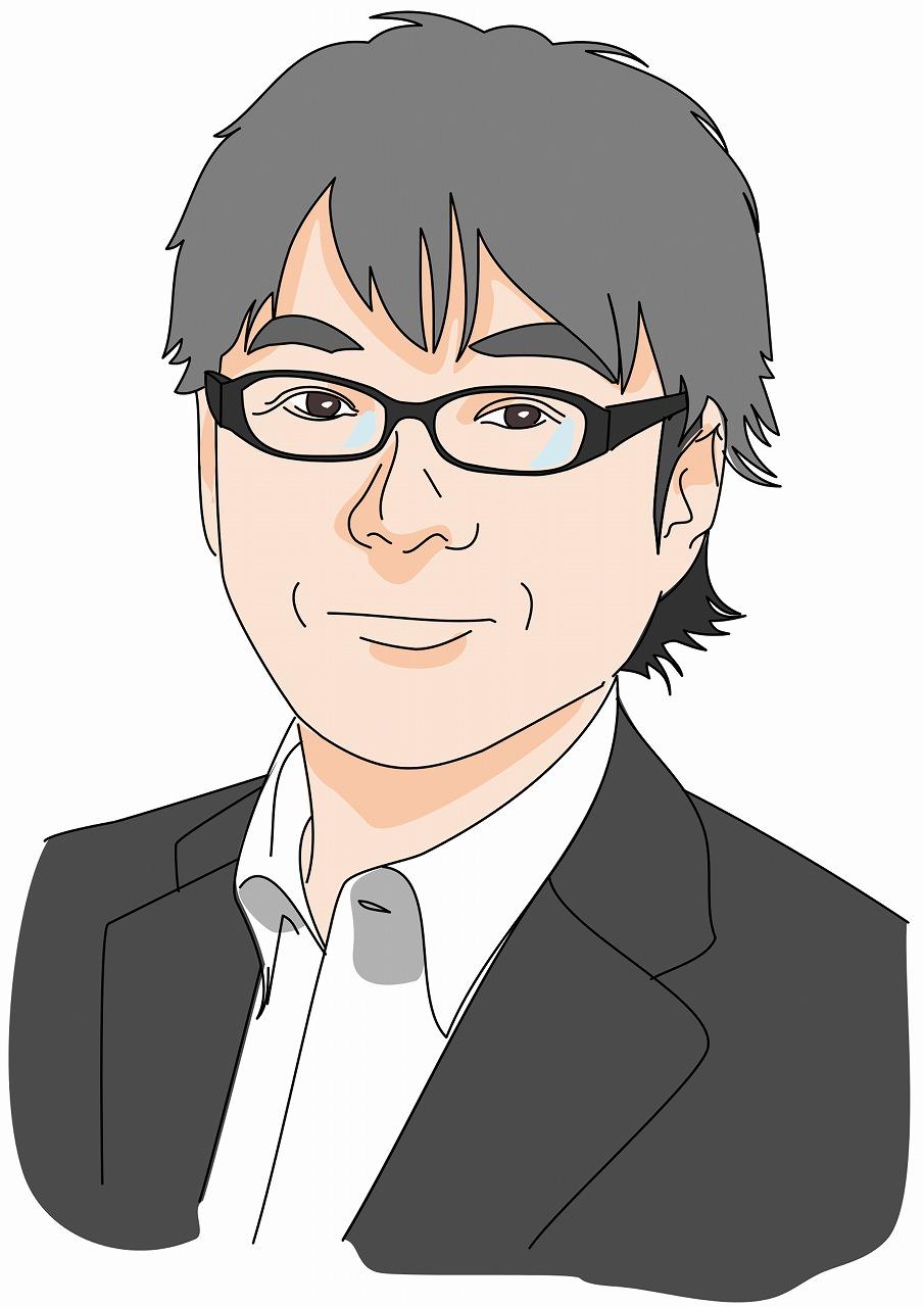 アユカワタカヲ似顔絵イラスト縮小